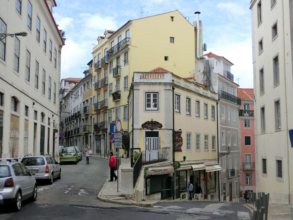 Straßenszene in Lissabon