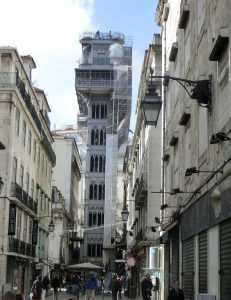 Fahrstuhl Elevador de Santa Justa, Lissabon