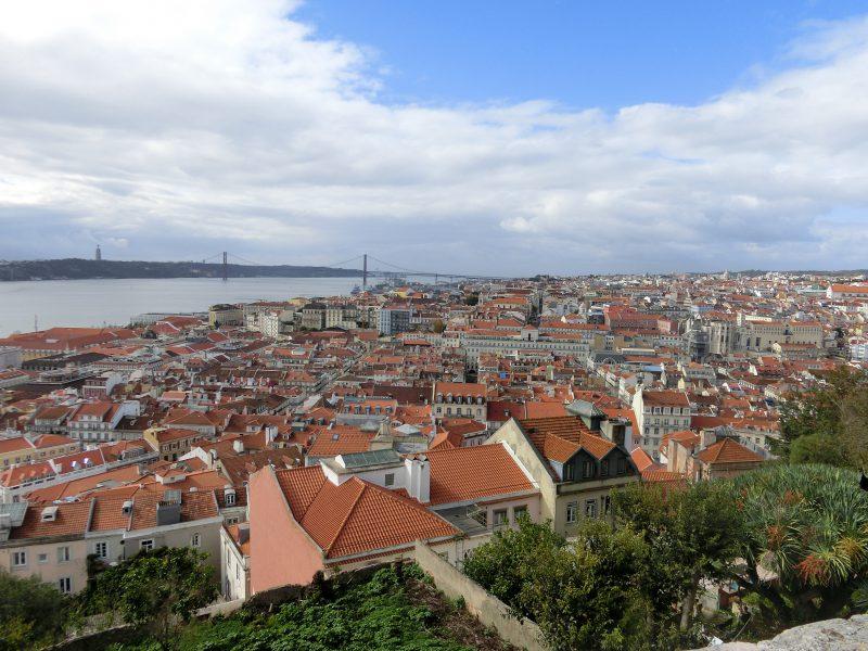 Aussicht vom Castelo de São Jorge auf die Ponte 25 de Abril