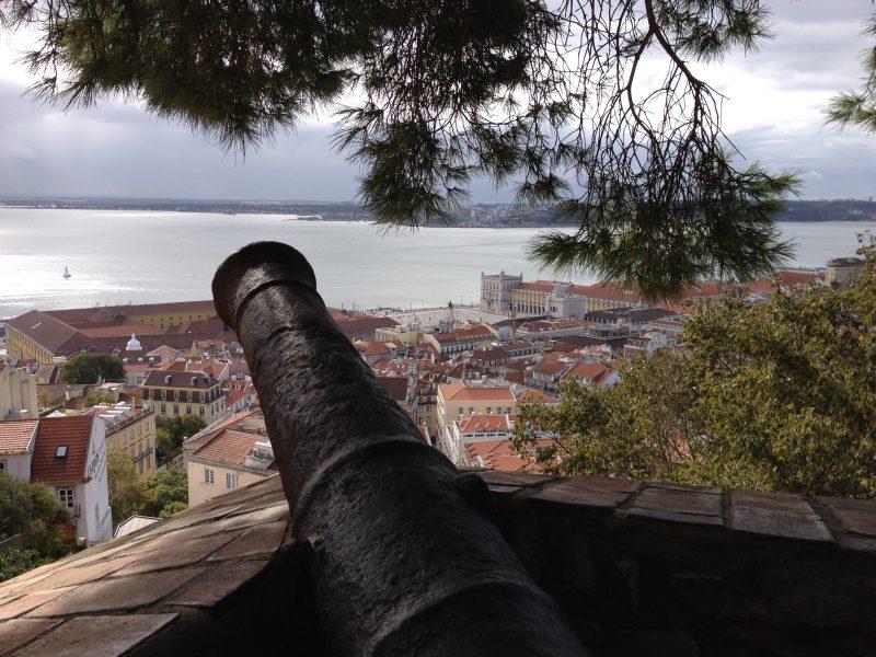 Kanone auf dem Castelo de São Jorge