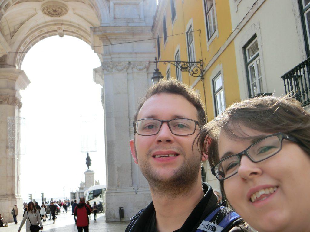 Nina und Sebastin in Lissabon