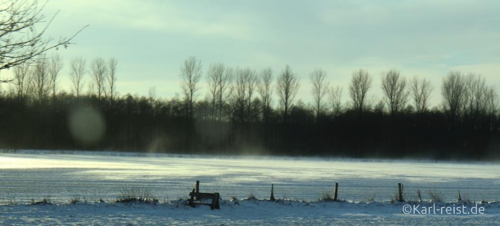 Winterlandschaft in Schleswig Holstein