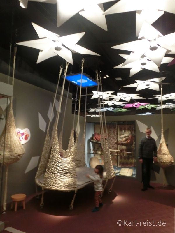 Sterne Bett im Museum of World Culture Museum der Kulturen der Welt Göteborg Sehenswürdigkeit