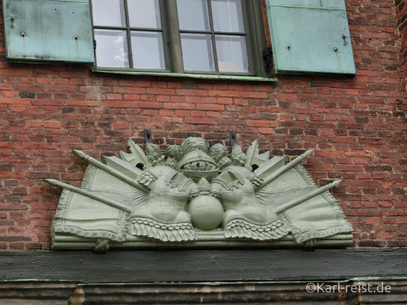Detailansicht vom Kronhuset Göteborg