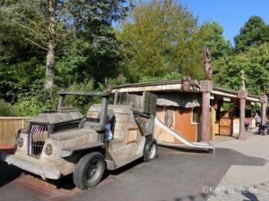 Hansapark Jeep Safari Klettergelegenheit im Alten Jahrmarkt