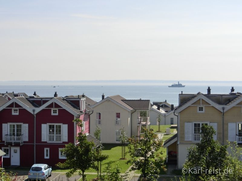 Hansapark Aussicht aus der Westernstadt auf die Ostsee
