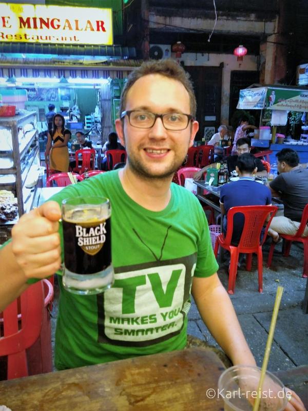 Barbecue Nachtmarkt Yangon