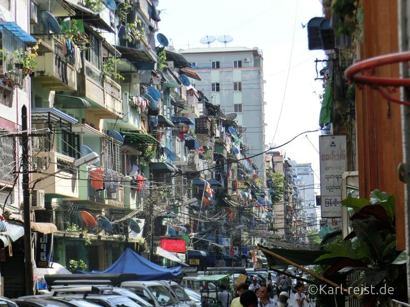 Straßenbild Yangon