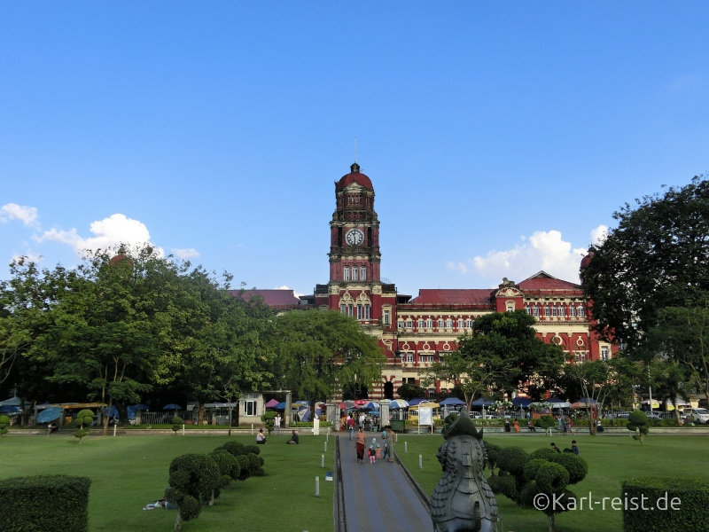 Das High Court Building in Yangon.