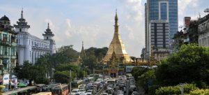 Bild Sule Pagode Yangon Myanmar