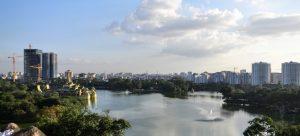 Bild Aussicht Yangon Kandawgyi Lake Karaweik Palace View