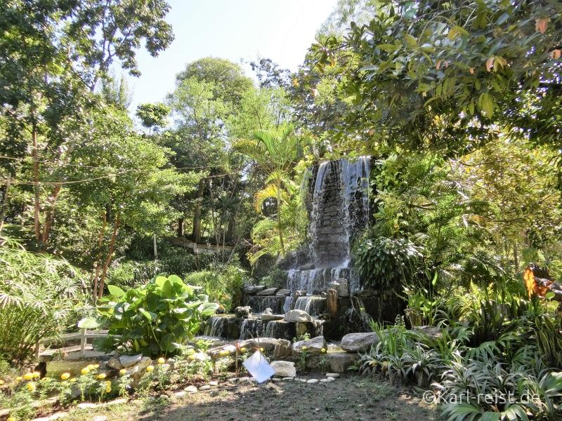 Wasserfall im Yangoner Zoo