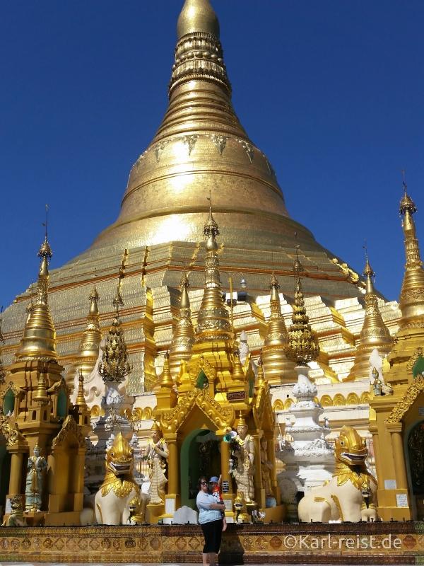 Shwedagon Pagode Größe