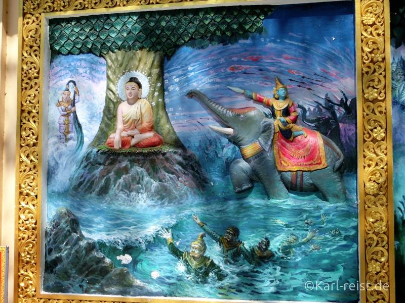 Bild Wandbild in Shwedagon Pagode