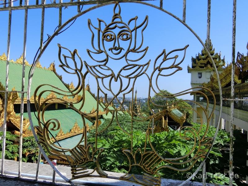 Aussicht von Terrasse Shwedagon Pagode
