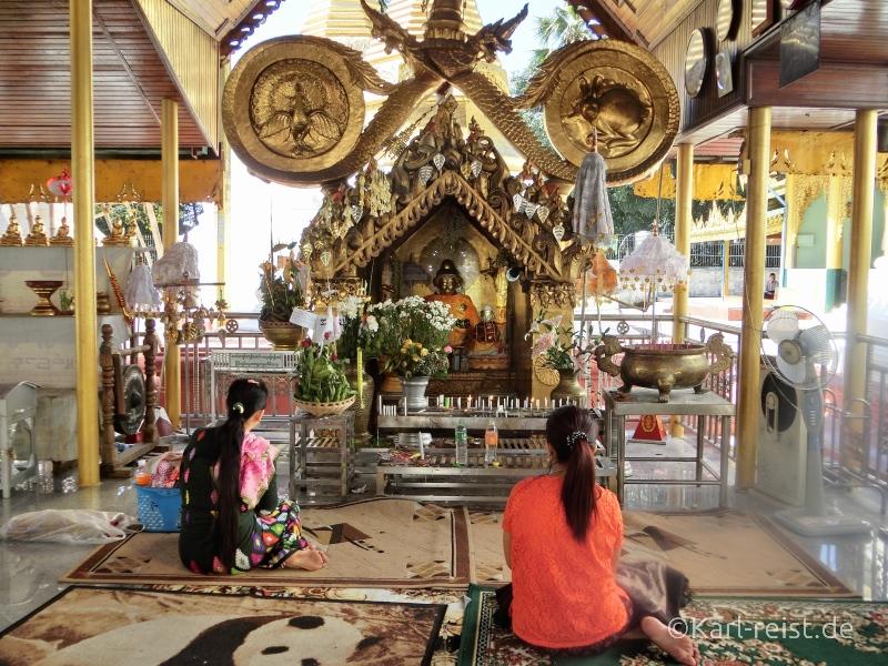 Tempel in Shwedagon Pagode