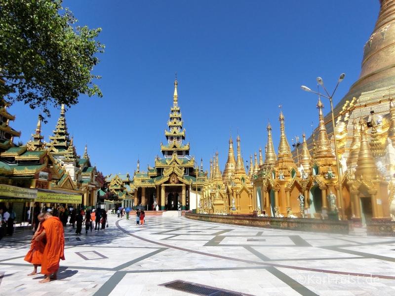Terrasse Shwedagon Pagode
