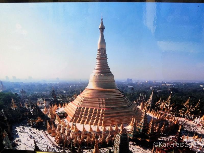 Shwedagon Pagode Luftaufnahme