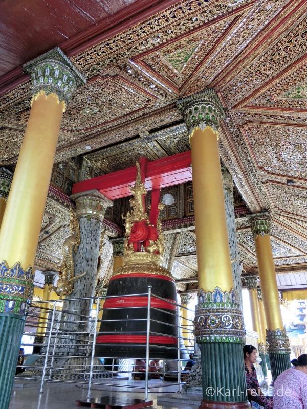 Shwedagon Pagode Spiegelverzierungen