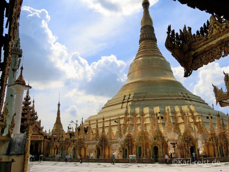 Vollbild der Shwedagon Pagode