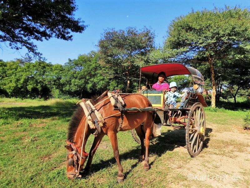 Bagan Pferdekutsche