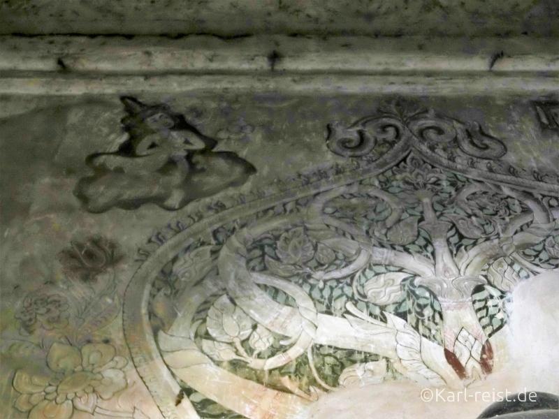 Zeichnungen in Bagan Tempel