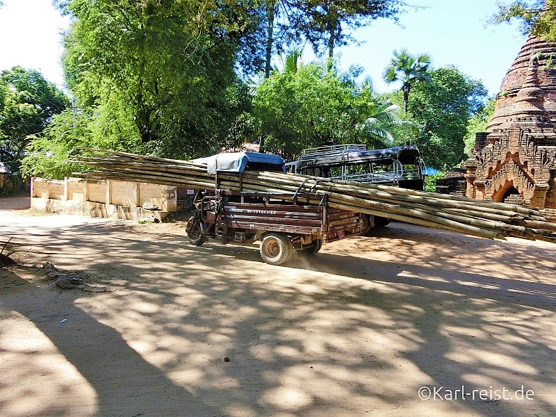 Schwertransport in Myanmar
