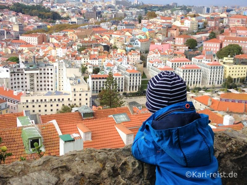 Ausblick Castelo de Sao Jorge Portugal Lissabon