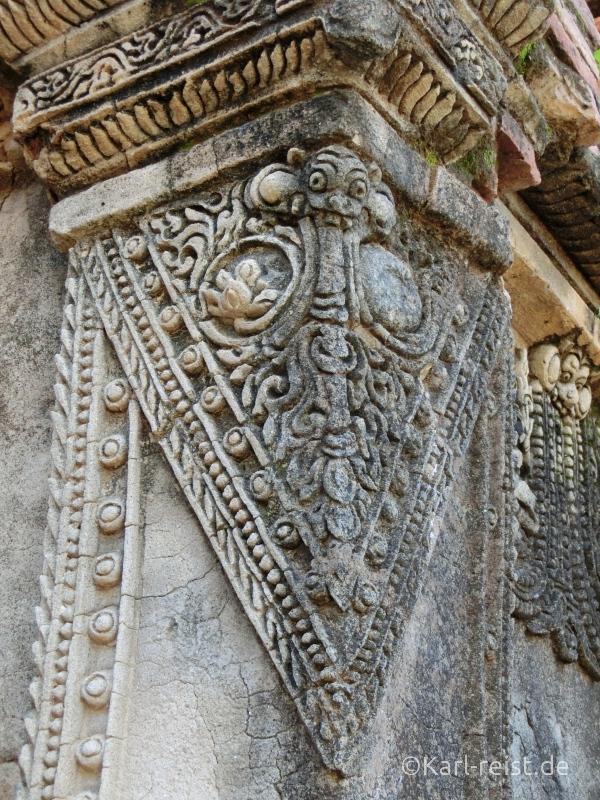 Verzierungen an dem schönen Tempel.