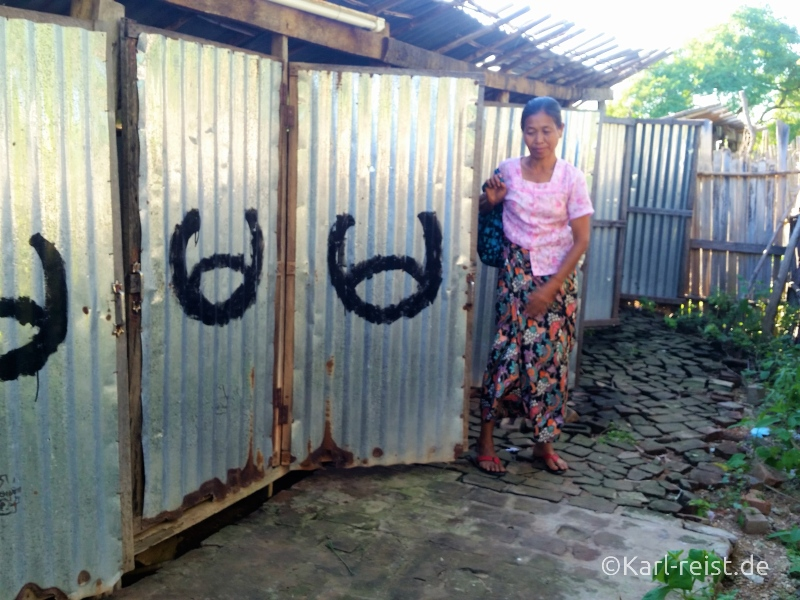 Bus Minibus Reisebus Bagan Mandalay Toilette Stehklo