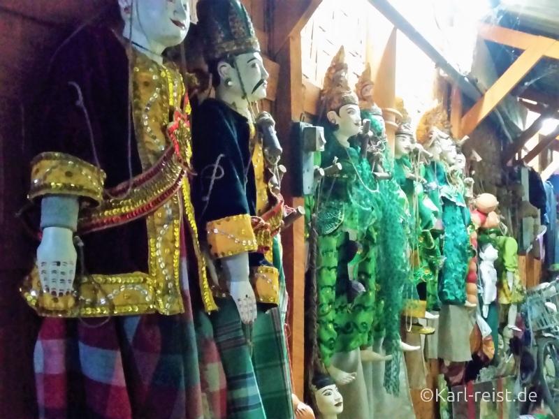 marionetten bei den mandalay marionettes burma myanmar