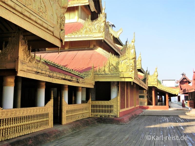 Königspalast Mandalay Palace Außengelände