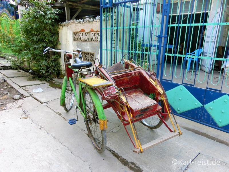 Fahrradtaxi in Mandalay