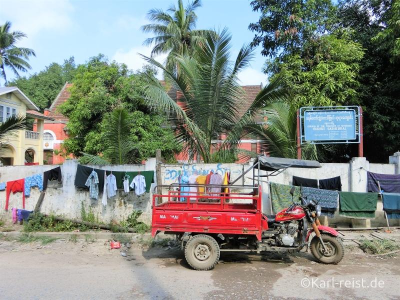 Wäsche trocknen auf der Straße