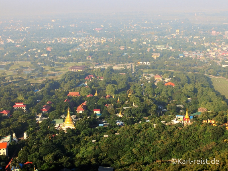 Ausblick vom Mandalay Hill am Morgen