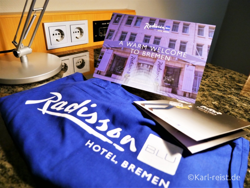 Begrüßung Radisson Blu Bremen
