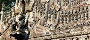 Schnitzereien Shwenandaw Kyaung Kloster