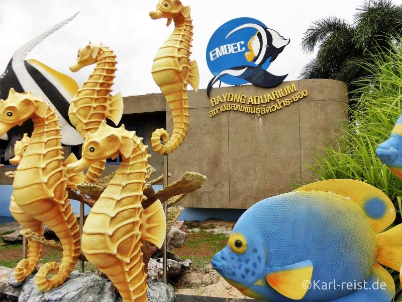 Eingangsbereich Rayong Aquarium Ban Phe Thailand