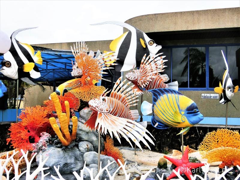 Eingangsbereich im Rayong Aquarium Ban Phe