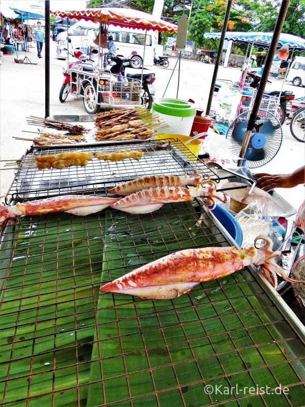 Foodstall Straßenstand in Ban Phe