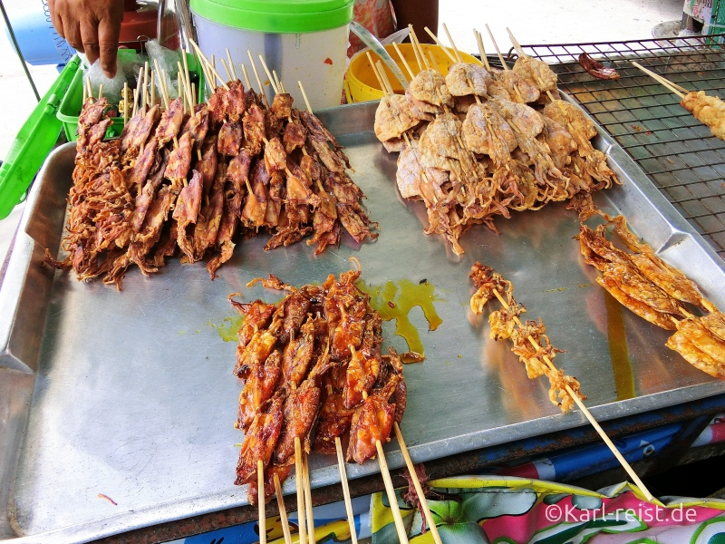 Fisch Foodstall Straßenstand in Ban Phe Rayong