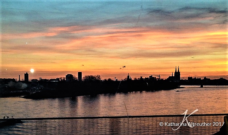 Köln Rhein Sonnenuntergang