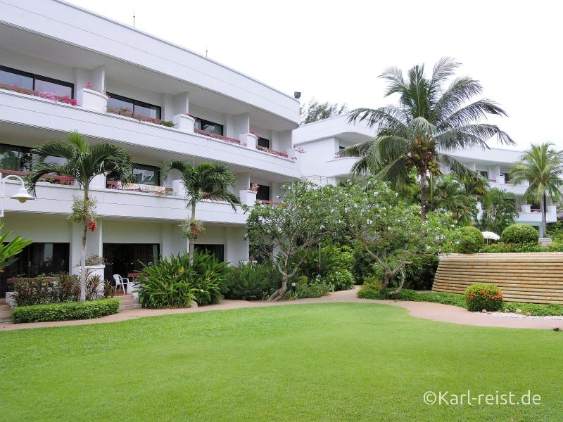 Gebäude im Novotel Rim Pae Rayong Hotel Resort Klaeng Ban Phe Garten Swimmingpool