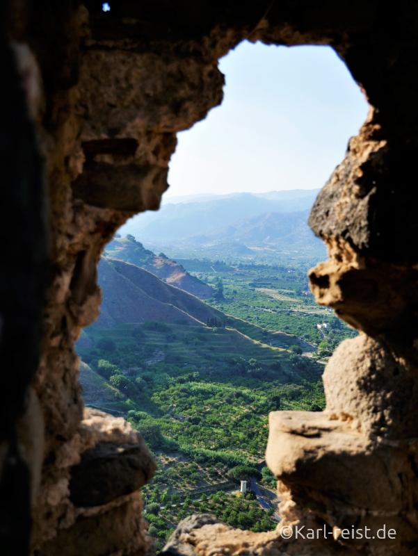 Ostküste Sizilien Aussicht Castelle di Calatabiano