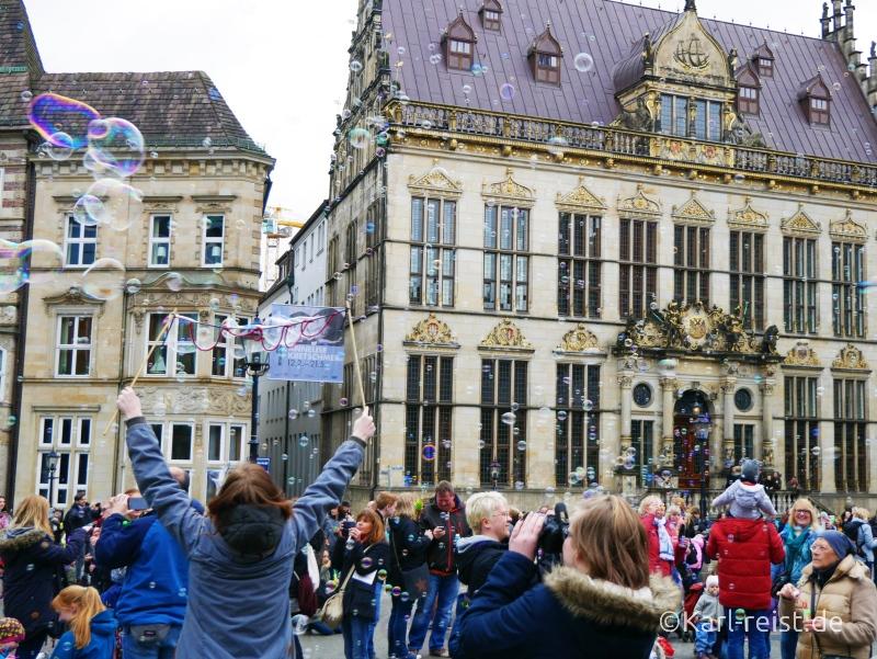 Seifenblasen Flashmob Bremen