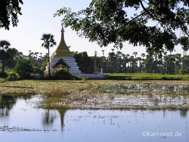 Aussicht auf dem Weg zum Bagaya Kloster.