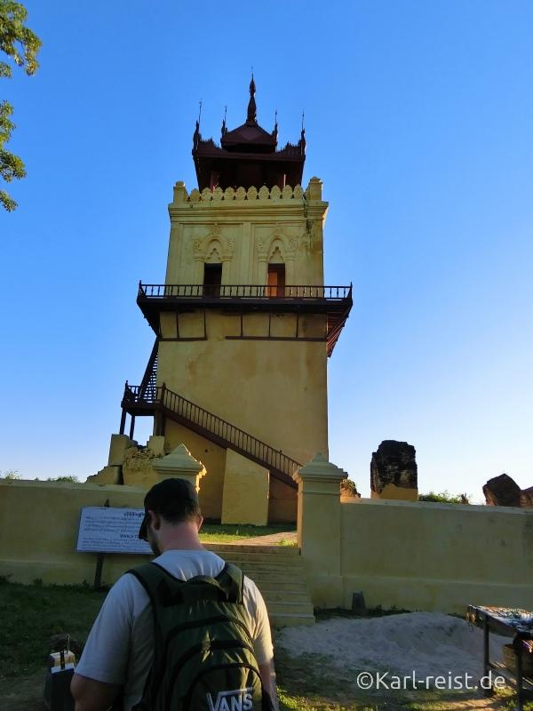 Wachturm auf Insel Inwa