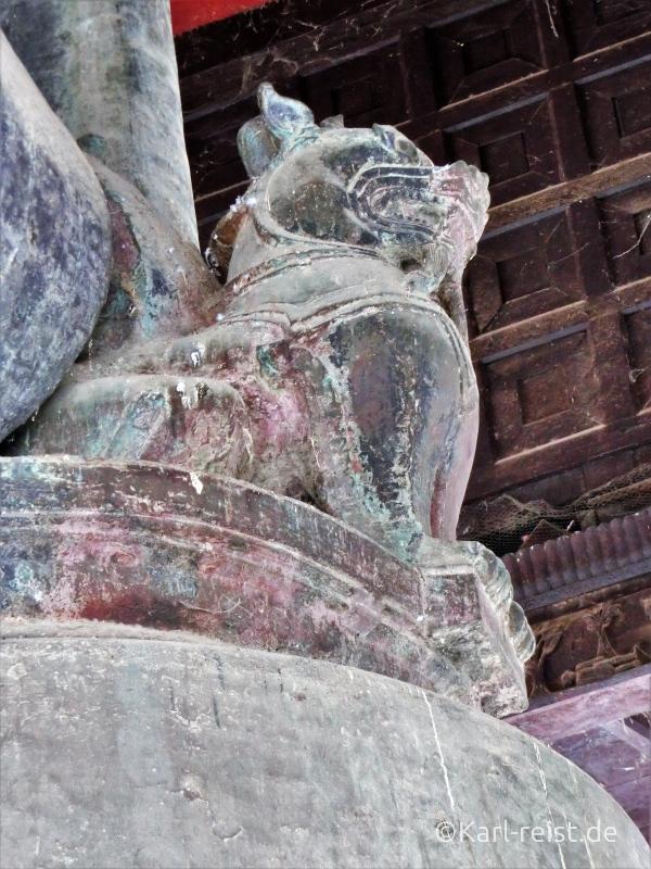 Verzierung an der Mingun Glocke