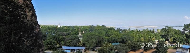 Panorama von Mingun Pagode