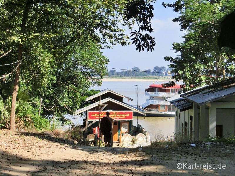 Blick zum Irrawaddy Fluss